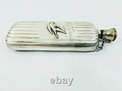 1890 Antique Silver Plate Flask a Favorite Gift Collectibles