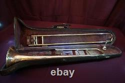 1918 Silverplate JW York and Sons, Grand Rapids Mich-Professional Tenor Trombone