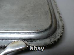19th C. English Old Sheffield Plate (OSP) 19 Engraved Serving Tray