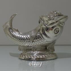 19th Century Antique Victorian Silver-plate Fish Formed Spoon Warmer Circa 1885