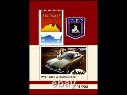 2017 Holden LJ Torana box set SILVER PLATE GRILLE BADGE Ltd Ed 200! & STAMP