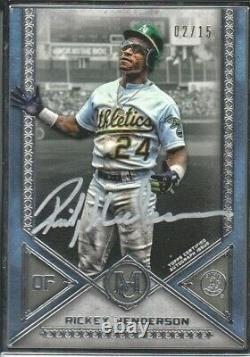 2019 Topps Museum Rickey Henderson Silver Plate Auto /15
