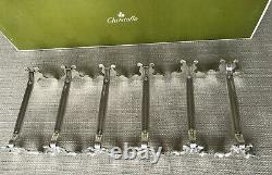 6 Christofle Silver Plate Knife Rests Coquille