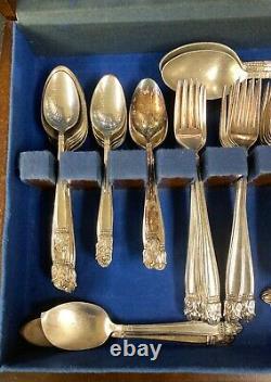 (79) Holmes Edwards Danish Princess Silverplate Flatware Silverware Luncheon Set