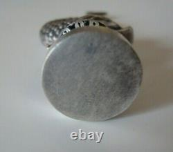 ANTIQUE WAX SEAL/STAMP silver plate