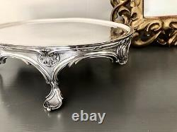 Antique Christofle Silver Plated Centre Piece Warmer Tray Rare