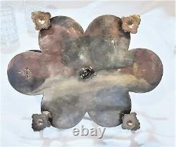Antique English Cut Crystal 6 Piece Condiment Set Cruet Georgian Silver Plate