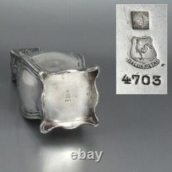 Antique French Gallia Silver Plate Vase, Chrysanthemums, Art Nouveau Period