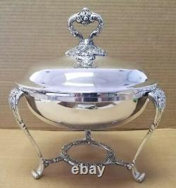 Antique Lunt Silverplate Chafing Dish A56 silver plate