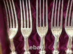 Antique Set Silver Plated Mother Of Pearl Fruit Eaters 12 Place Setting 24 Piece