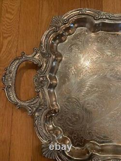 Antique Sheffield English Plate Serving Tray