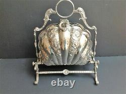 Antique Victorian Silver Plated Folding Biscuit Box
