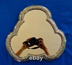 Antique Victorian Silver-Plated Mirror Plateau