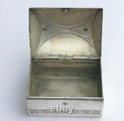 Antique Wmf Art Nouveau Jugendstil Secessionist Silver Plate Trinket Box Vintage