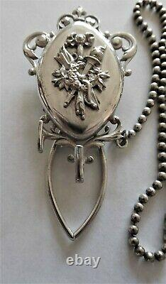 Antique silver plate Chatelaine c 1880 Europe