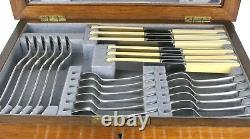 Art Deco Canteen Cutlery Silver Plated Old English 6 Person