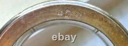 Art Nouveau Ostrich Mark WMF Silver Plate Drinking Cups with Etched Glass insert