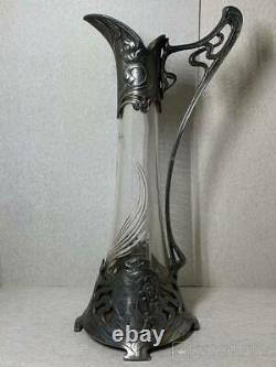 Art Nouveau PLEWKIEWICZ WARSZAWA WMF Silver Plate Elegant Claret Jug 10