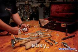 Bach Stradivarius Bb Trumpet 197 Anniversary Leadpipe, SilverPlate Long Receiver