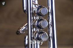 Benge 3 Trumpet- Los Angeles CA. BEAUTIFUL Silverplate withHardshell Case