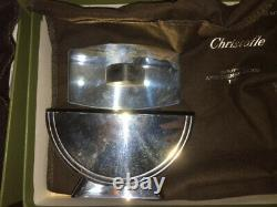 Christofle 1925 Art Deco Silver Plated Tea / Coffee Service -Set of 3 Cond. New