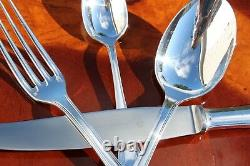 Christofle Boreal Silver Plated Flatware 16 Pcs Set in 4 Settings