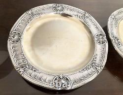 Christofle Gallia Antique Silver Plated 2 Presentation Serving Plates Pair