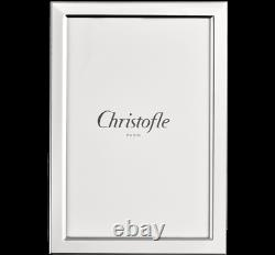 Christofle Uni Silver-plate 4x6 Picture Frame #4256024 Brand Nib Save$$ F/sh