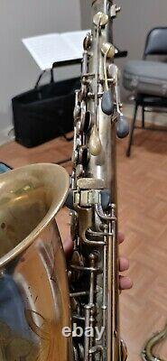 Conn 10m Transitional Silver Plate Original Tenor Saxophone