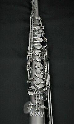 Early'20's Buescher Oliver Ditson Stencil Silver Soprano Sax, Repadded #VSS20