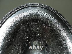 Ellis-barker Silver Plate Oval Pedestal Dish / Bowl, Menorah Mark