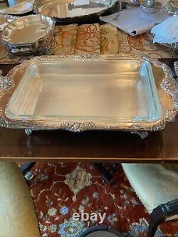 Estate Reed & Barton Silver Plate King Francis 1668 Buffet Server Footed withLid