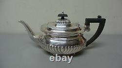 GORGEOUS 5-PC. EDWARDIAN SHEFFIELD SILVER PLATE TEA / COFFEE SET, c. 1900-10