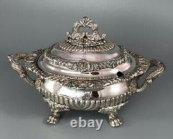 Georgian Old Sheffield Plated Sauce Tureen Crested AZX