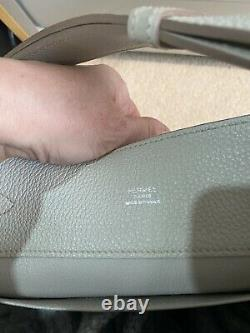 Hermes Kelly Sport, Pale grey Silver Plate hardware