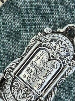 I Am Edgar Berebi My Mezuzah Judaica Jewish Box Sterling Silver Plate 8671-6