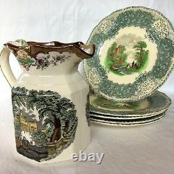 James Tufts VICTORIAN ART NOUVEAU Floral Silver Plate High Relief Platter # 4368