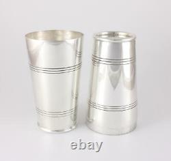 Large Vintage Silver Plate Boston Cocktail Shaker. Art Deco Barware c1940