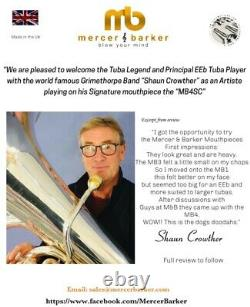 Mercer & Barker MB1/2/3/4/ MB5/MB5F Tuba & Euph Mouthpiece in silver plate