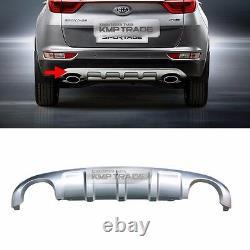 OEM Rear Bumper Dual Type Skid Silver Plate Diffuser for KIA 2017-20 Sportage QL
