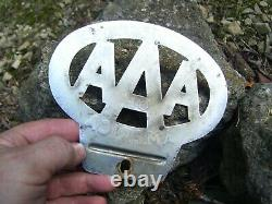 Original 1930's Vintage AAA US STATES AMERICA License Plate topper Ford gm chevy