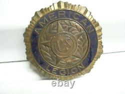 Original 1940's Vintage ww2 American Legion License Plate topper Ford vw chevy