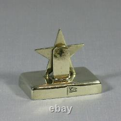 Original White Star Line 1st Class RMS Olympic Era Silver Plate Menu Stand RARE