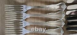Rare 1858 Christofle Violon Palmette Violin 48 pieces silver plated cutlery set