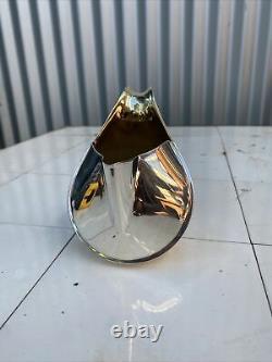 Rare Oscar Tusquets Vintage Officina Alessi Italian silver plate jug. 125mm high