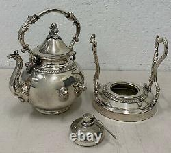 Silver Britannia Electro Plate Teapot on Tilting Stand with Burner