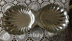 The Sheffield Silver Company Clam Shell Dish Footed Silver Plated USA