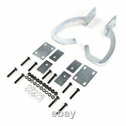 Universal Paintable / White Zinc Plated Trunk Hinge Kit TRH truck