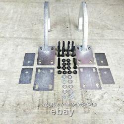 Universal Paintable / White Zinc Plated Trunk Hinge Latch Kit car truck Hot Rod