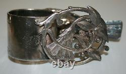 Victorian Silver Plated Napkin Ring Large Robin On Open Floral Base